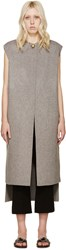 Acne Studios Grey Wool Long Vento Vest