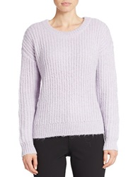 424 Fifth Drop Shoulder Sweater Violet Bloom