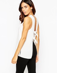 Asos Open Back Vest With D Ring Detail White