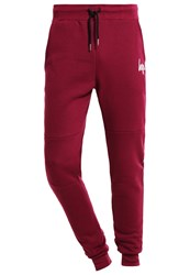 Hype Tracksuit Bottoms Burgundy White Bordeaux