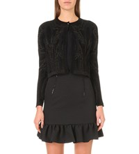 Sandro Malcolm Knitted Cardigan Noir