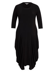 Chesca Drape Jersey Dress Black