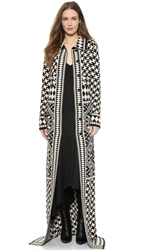 Temperley London Long Empire Coat Black Mix