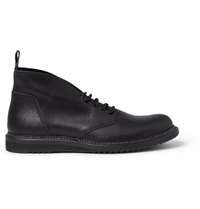 Rick Owens Washed Leather Desert Boots Black