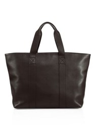Saks Fifth Avenue Leather Large Tote Chocolate