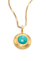 Stephanie Kantis Eternity Crush Green Turquoise Howlite Pendant Necklace