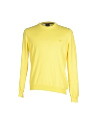 Henry Cotton's Knitwear Jumpers Men Yellow