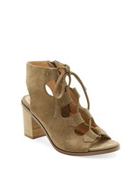 Kensie Elicia Suede Gihillie Sandals Taupe