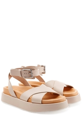 Jil Sander Leather Platform Sandals