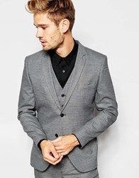 Selected Homme Dogtooth Suit Jacket In Skinny Fit Grey