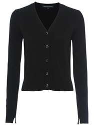 French Connection Core Cashmere Blend Cardigan Black