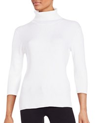 Highline Collective Ribbed Knit Turtleneck White