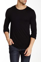 John Varvatos Jersey Sheen Long Sleeve Crewneck Sweater Black