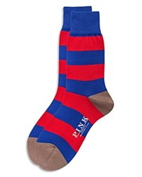 Thomas Pink Rugby Stripe Socks Red Blue