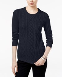 Tommy Hilfiger Lucy Cable Knit Sweater Masters Navy