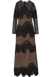 Emilio Pucci Embroidered Tulle Gown Black