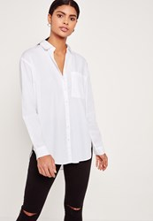 Missguided Cotton Poplin Shirt White