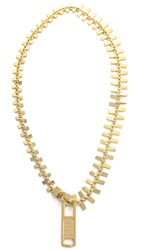 Marc By Marc Jacobs Lost And Found Zipper Necklace Oro