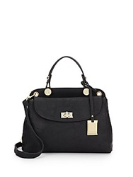Catherine Malandrino Clara Faux Leather Crossbody Satchel Black