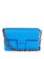 Tomas Maier Front Flap Mini Leather Cross Body Bag