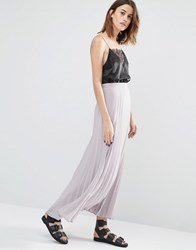 Warehouse Pleated Maxi Skirt Mink