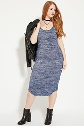Forever 21 Plus Size Marled Cami Dress Navy Cream