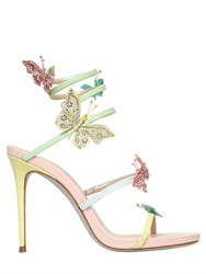 Rene Caovilla Rene Caovilla 105Mm Butterfly Karung And Leather Sandals