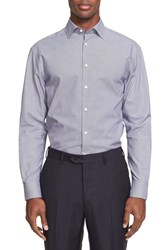 Armani Collezioni Men's Extra Trim Fit Micro Pattern Dress Shirt