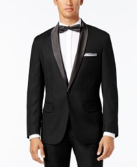Inc International Concepts Men's Customizable Tuxedo Blazer Only At Macy's Black Regular Shawl Lapel Blazer