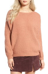 Glamorous Women's Open Back Boyfriend Sweater Rose