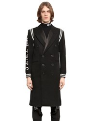 Ktz Varsity Style Double Breast Wool Coat