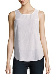 Rag And Bone Textured Silk Blend Sleeveless Top Bright White