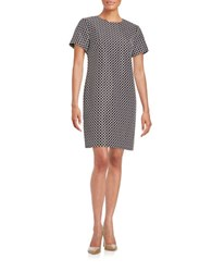 Michael Michael Kors Chain Link Pattern Shift Dress Black White