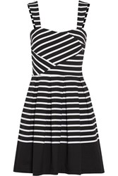 Band Of Outsiders Breton Striped Cotton Jersey Mini Dress Black