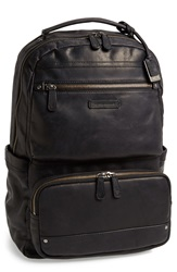 Frye 'Logan' Large Volume Leather Backpack Black