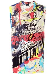 Ktz Spray Paint Print Tank Top Multicolour