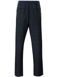 Oamc Checked Trousers Blue