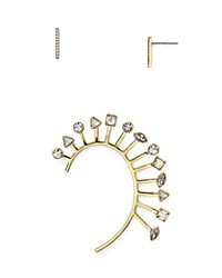 Baublebar Hatshepsut Stud Earrings And Ear Cuff Set Clear Gold