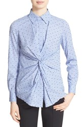 Women's Derek Lam 10 Crosby Twist Front Button Down Shirt