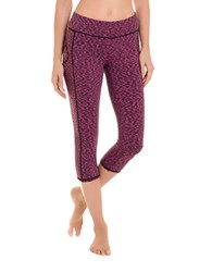 Danskin Space Dye Capri Leggings Beetroot Pink