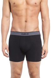Naked Men's 'Essential' Stretch Cotton Boxer Briefs