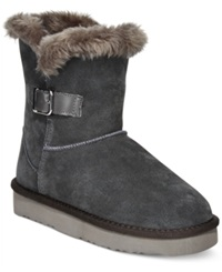 Style And Co. Tiny Cold Weather Booties Only At Macy's Women's Shoes Gray