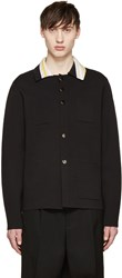 Acne Studios Black Knit Kaven Cardigan