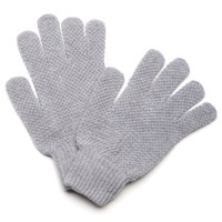 William Fox And Sons Light Grey Knitted Gloves