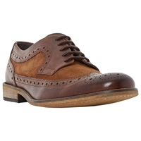 Dune Braker Combo 2 Tone Brogue Derby Shoes Brown