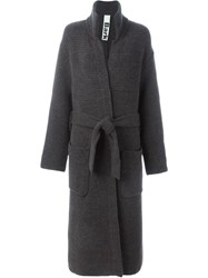 Bark Long Robe Coat Grey