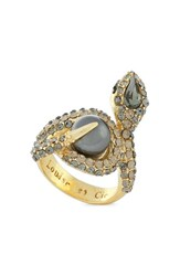 Women's Louise Et Cie Pave Snake Ring