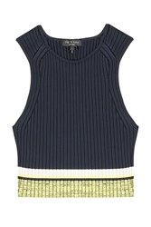 Rag And Bone Rag And Bone Sheridan Ribbed Crop Top Blue