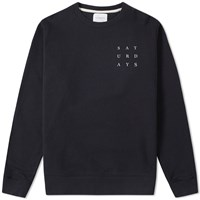 Saturdays Surf Nyc Bowery Grid Crew Sweat Black