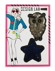 Design Lab Lord And Taylor Owl Star Patches Multi Colored